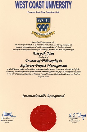 2010 Doctor of Philosophy (Software Project Management)