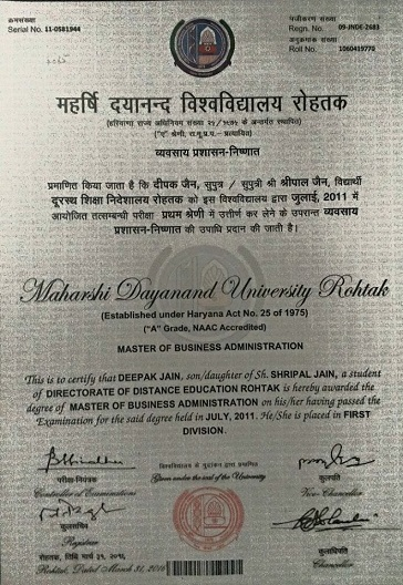 2011 Master of Business Administration (Marketing Management)
