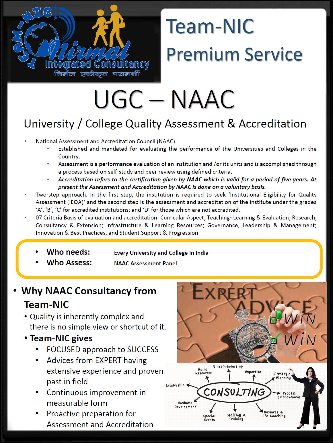 NAAC Advisory and Consultancy - Prof  (Dr ) Deepak Jain